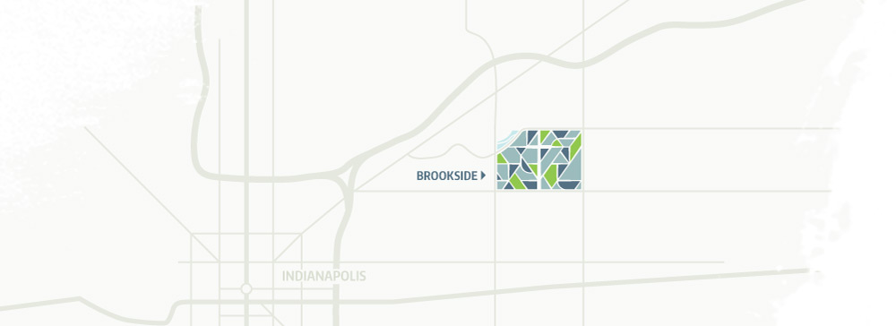 Brookside Indianapolis map
