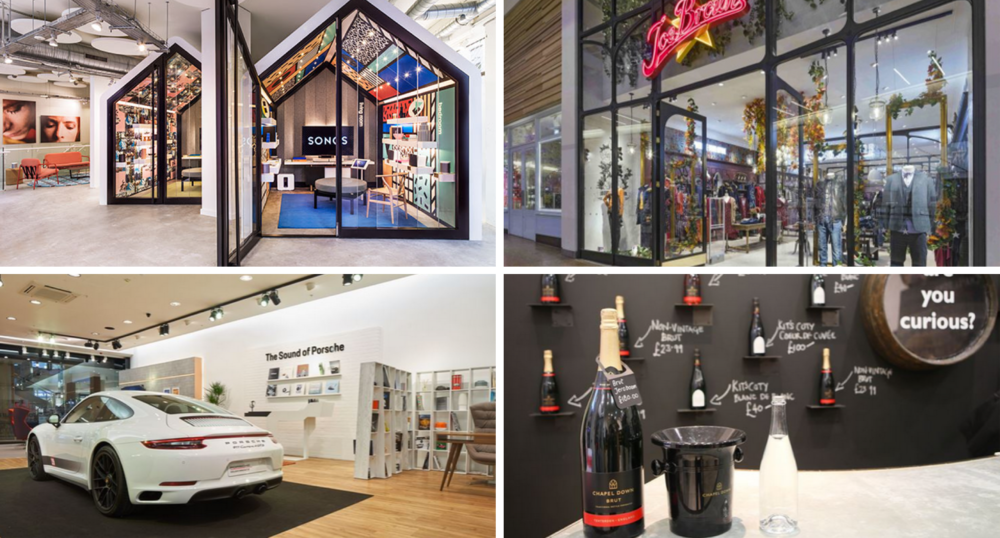 Sonos new store in London, Joe Brown's store at Meadowhall, Porsche and Chapel Down pop ups at Bluewater – all announced this month