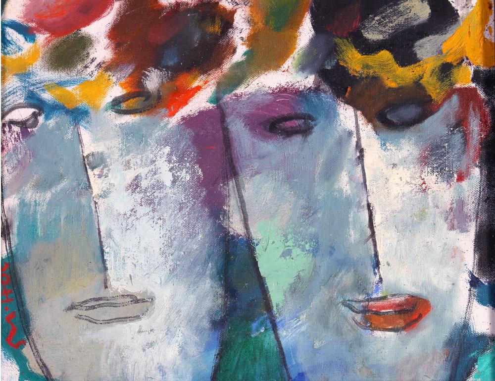 "Ray Khoo | Flower Girls | oil on canvas | 11"" x 14"""