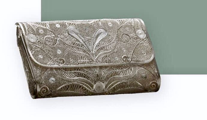 Silver Filigree Handbag