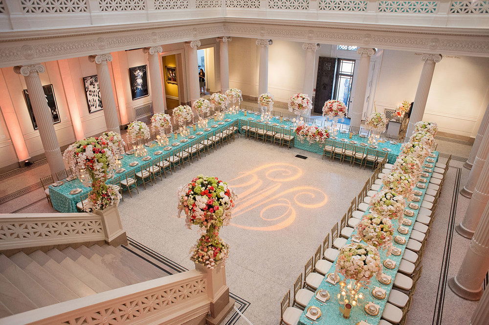sapphireevents.com | New Orleans Wedding Planning and Design | Atrium of the Museum of Art Wedding Reception | Ardent Studio