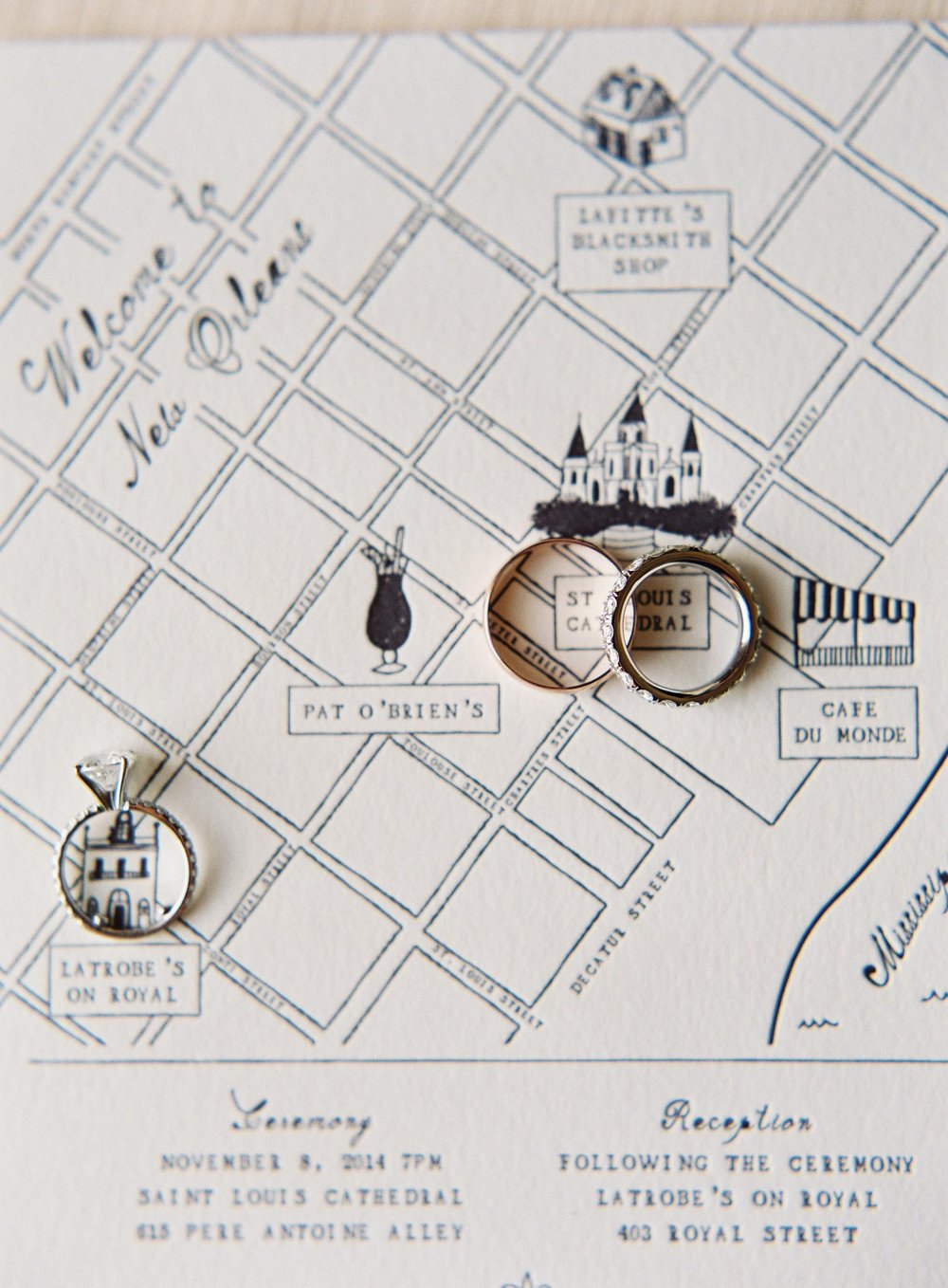 Wedding Planning Tips | Sapphire Events | Wedding Planner | Rylee Hitchner Photography | How to Use Pinterest | Letterpress Ideas | New Orleans Map | French Quarter Wedding