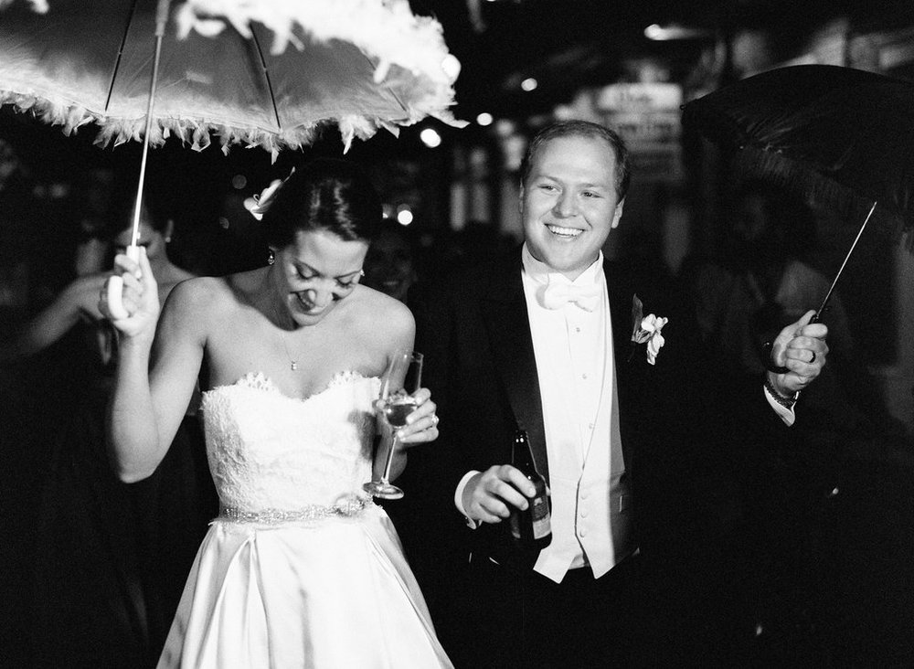 Wedding Planning | New Orleans Wedding | French Quarter Wedding | Sapphire Events | Ryan Ray Photography | White and Green Wedding | Formal Black Tie Wedding | Monique Lhuillier Dress | Formal wedding | Black tie wedding | Green and white wedding | bride groom dance | evening wedding | second line parade | second line wedding  | formal wedding | black tie wedding
