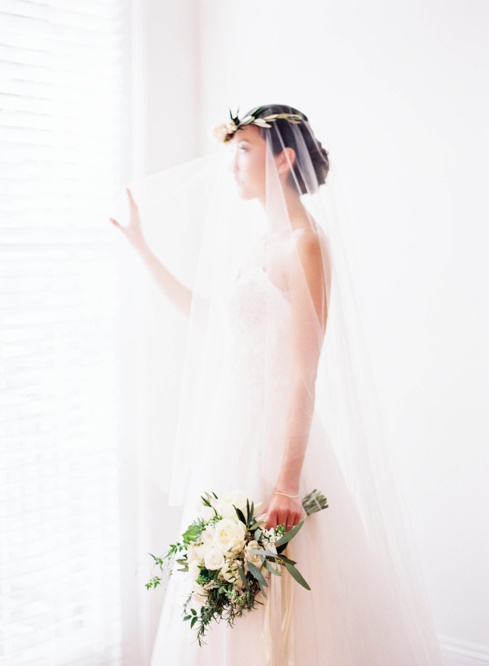 Sapphire Events | Marissa Lambert Photography | Il Mercato | Bridal Portrait Inspiration | Flower Crown | Olive Branch Inspiration | Garden Wedding | Long Veil | Wedding Planning Tips | What to do after the ring | Engagement Inspiration | Wedding Planning Inspiration | Best Wedding Planner in New Orleans | Essential Engagement Tips