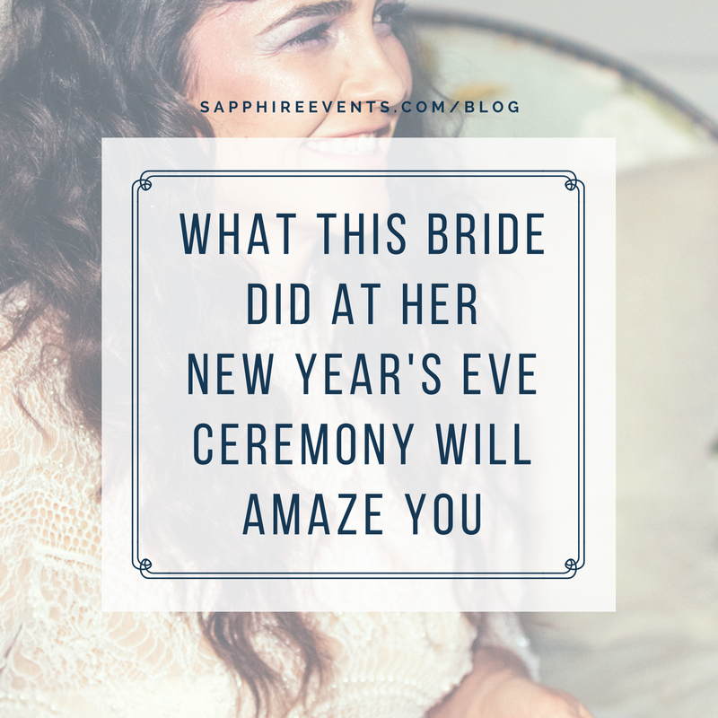 Sapphire Events — What this bride did at her New Year\'s Eve ceremony ...