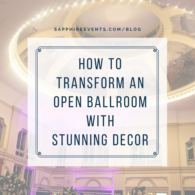 How to transform an open ballroom with stunning decor | Sapphire Events | Greer G Photography | Board of Trade | White and Gold Wedding | Winter Wedding Inspiration