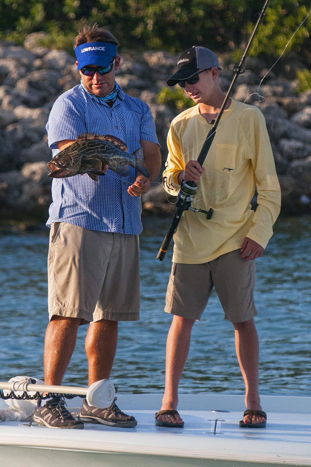 Grouper are commonly found both on and off the reefs