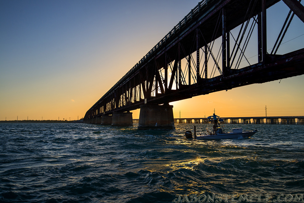 Sunset at Bahia Honda Bridge after the encounter. nikon d800, 35mm, f/5.0, 1/800 sec