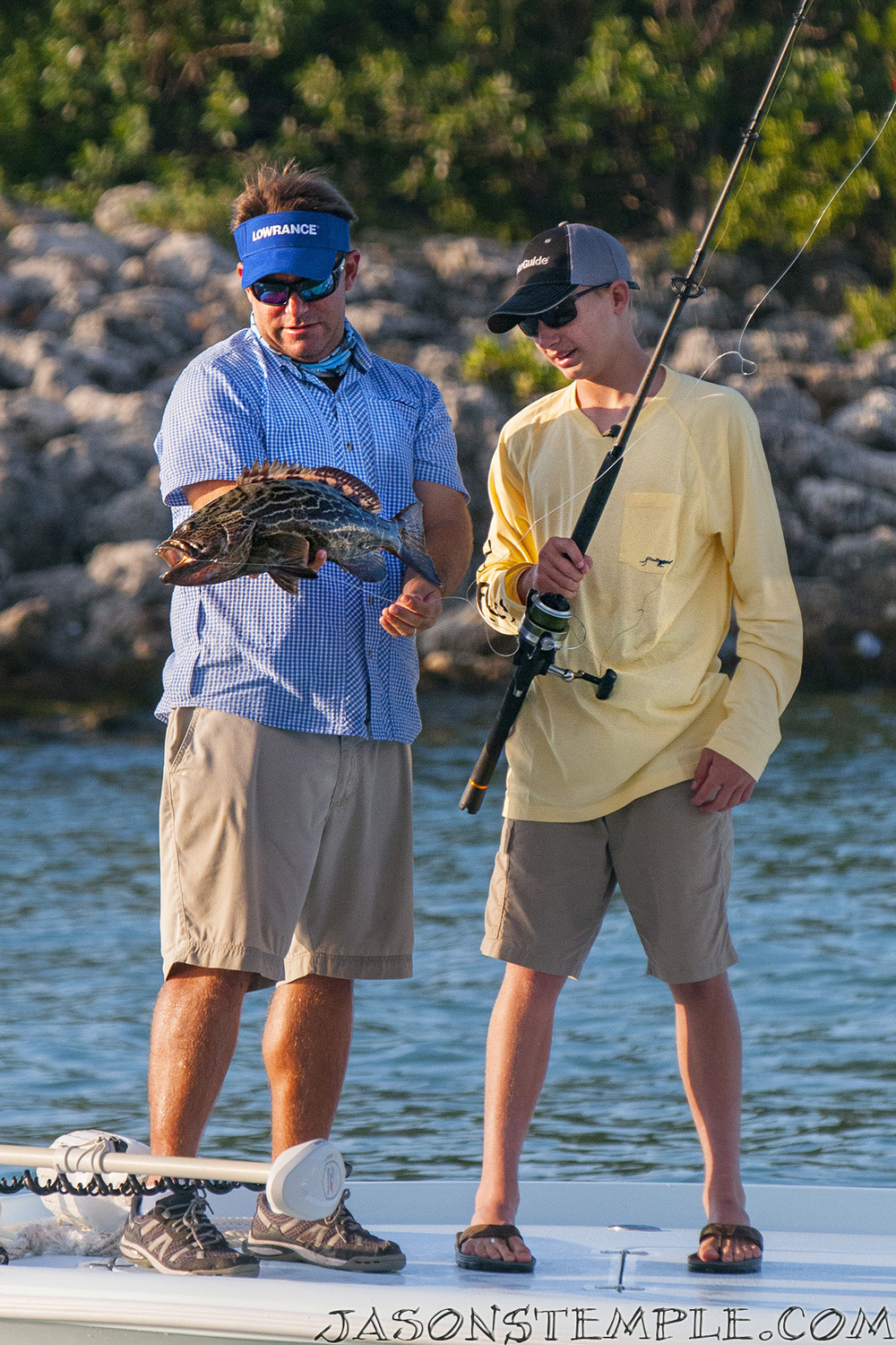 Riley's first black grouper. nikon d300s, 185mm, f/5.0, 1/1600 sec