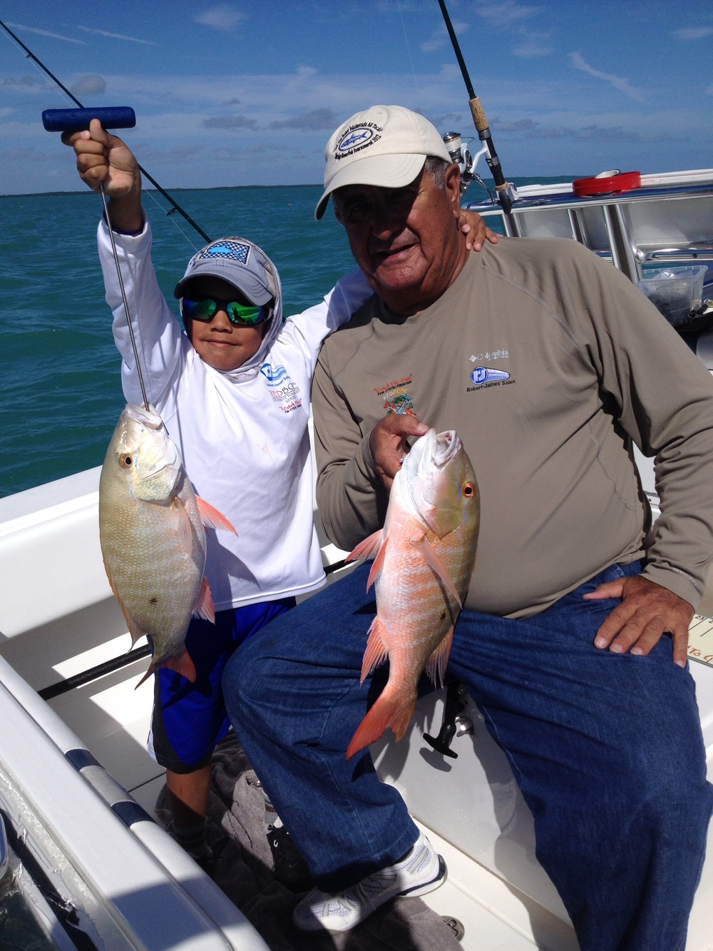 double header mutton snapper from islamorada patch reefs.