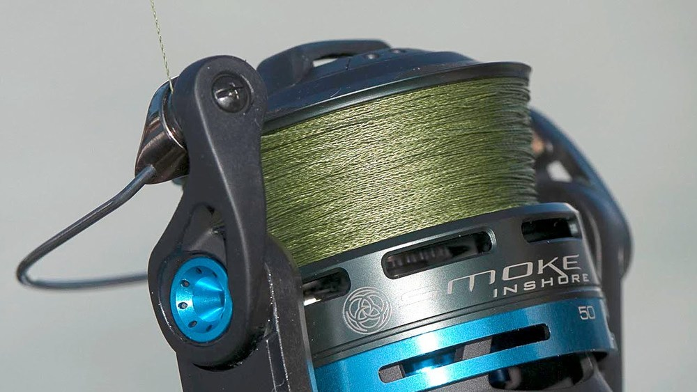 New Braided Line On Smoke Inshore Reel