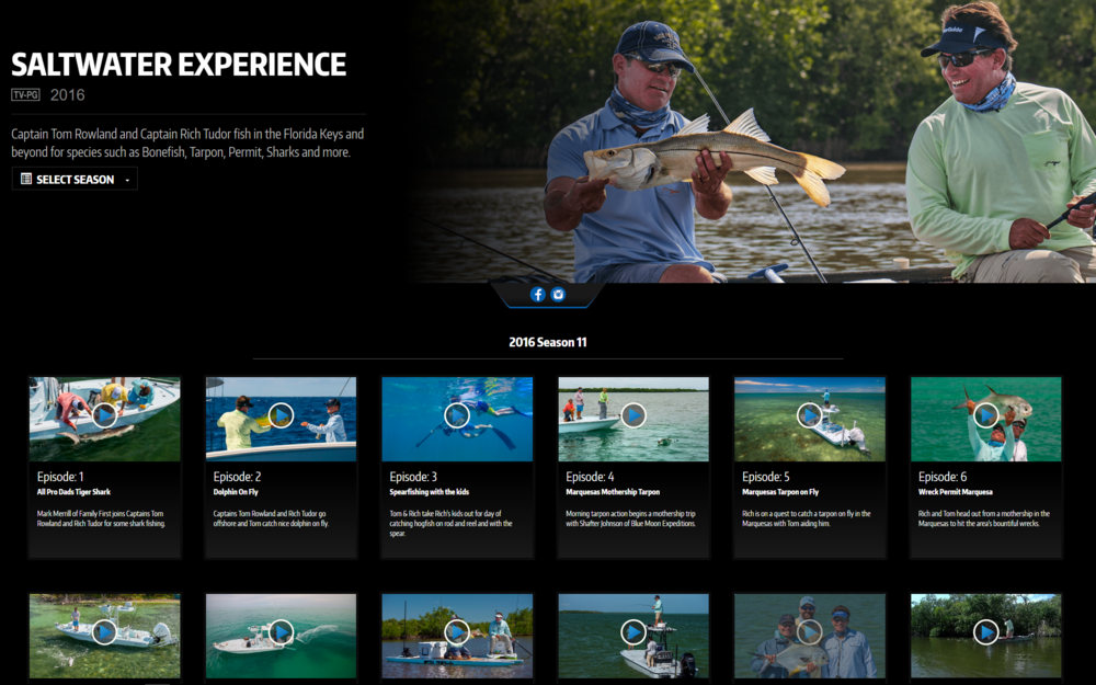 sALTWATER eXPERIENCE EPISODES ON WAYPOINT TV