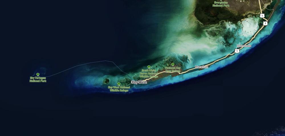 Satellite images of Florida post Hurricane Irma