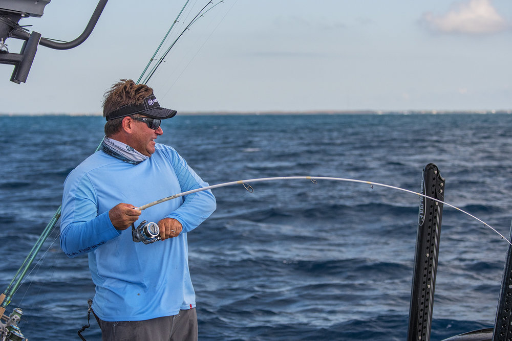 Rich hooked up with what he thought was the largest Yellowtail he'd caught in his life.