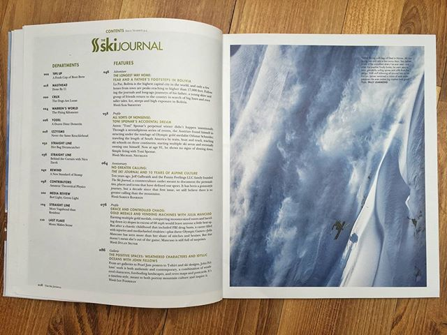 Thousand thanks to my man @pallylearmond  for scoring the opening page in @theskijournal, one of my favourite ski magazines #theskijournal #ak