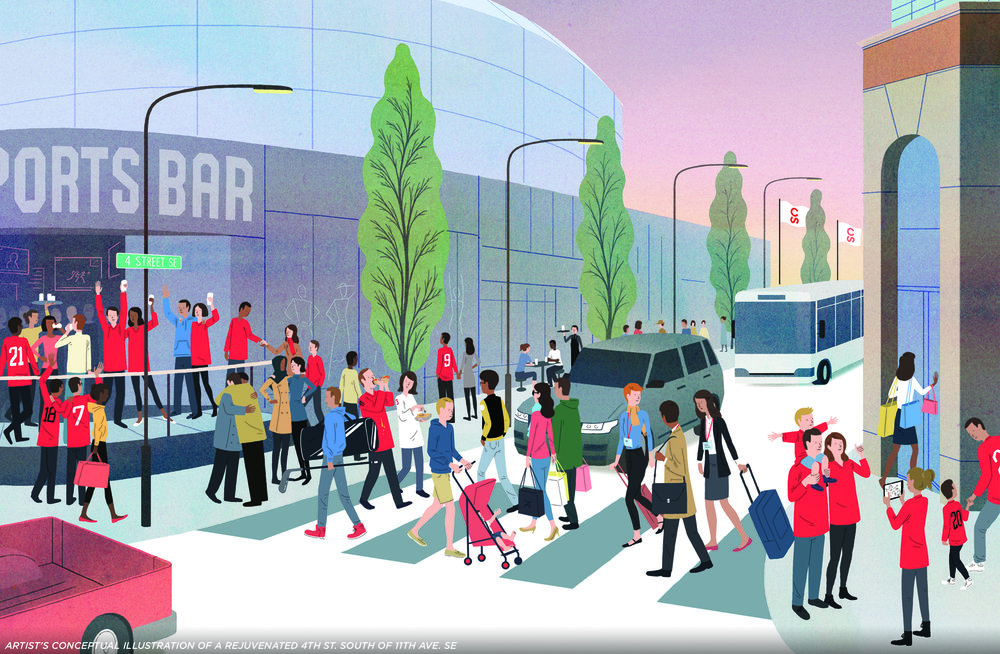 Image 1 - Illustration - Conceptual illustration of a rejuventated 4th Street.jpg