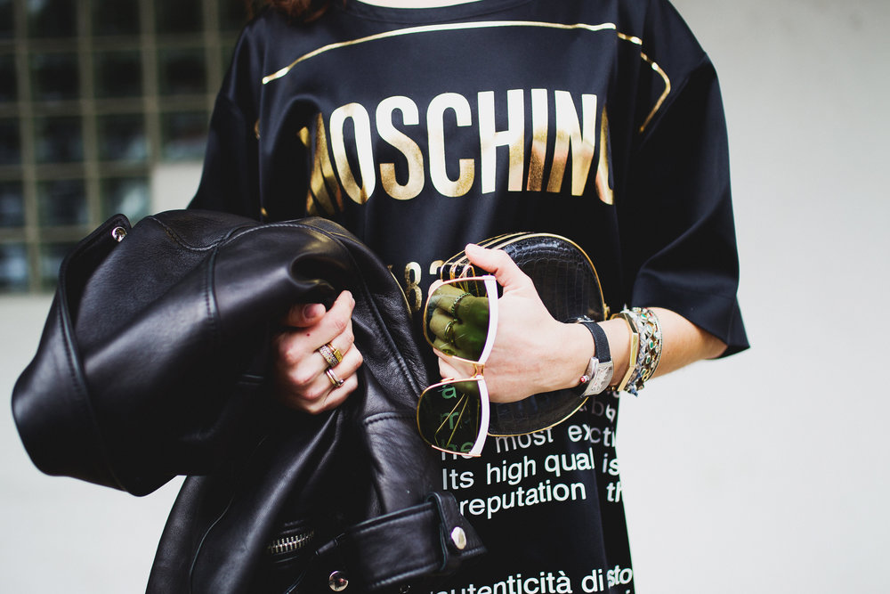 Moschino 'Authentic' t-shirt dress