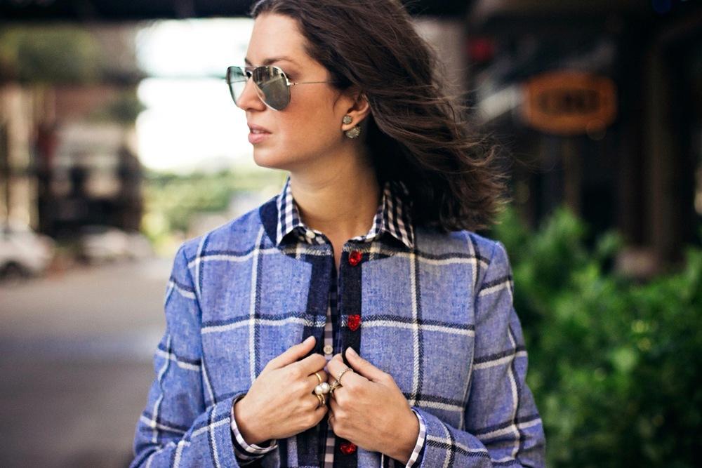 House Of Holland blue plaid jacket