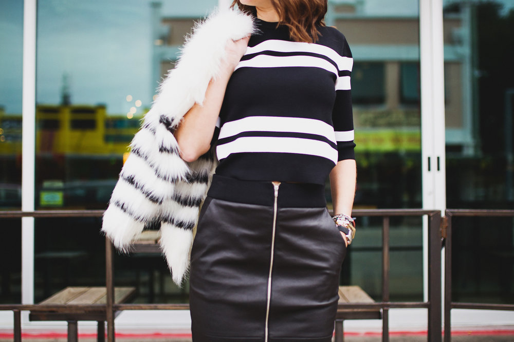Striped holiday / resort outfit