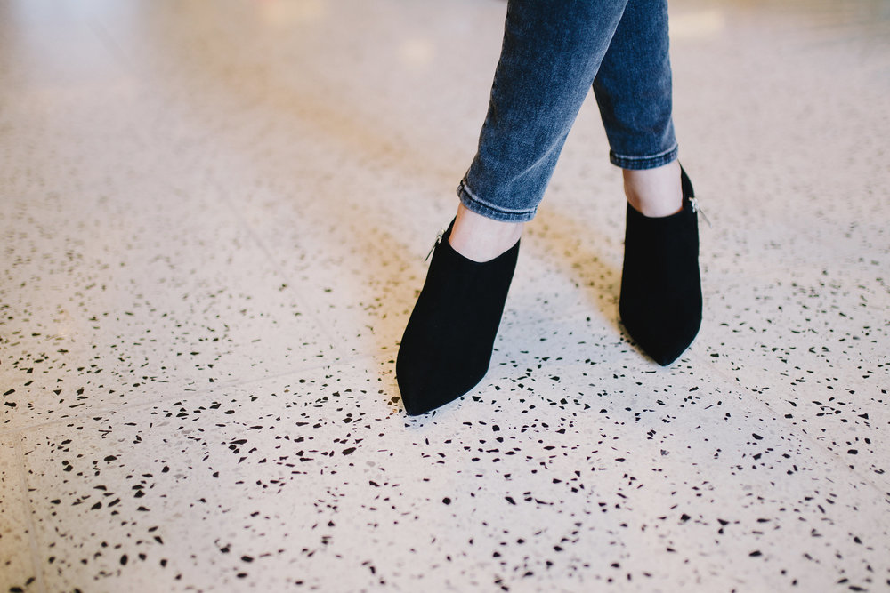 Christian Dior coma heel booties