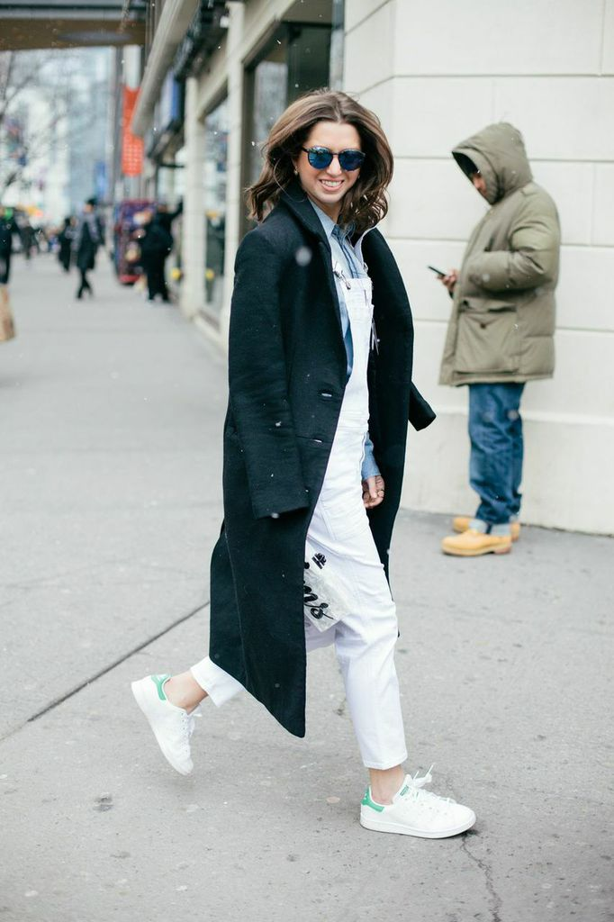 Winter white overall outfit www.theshoediet.com