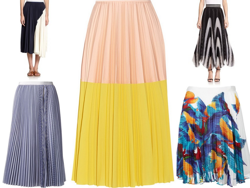 Accordian pleated skirt trend