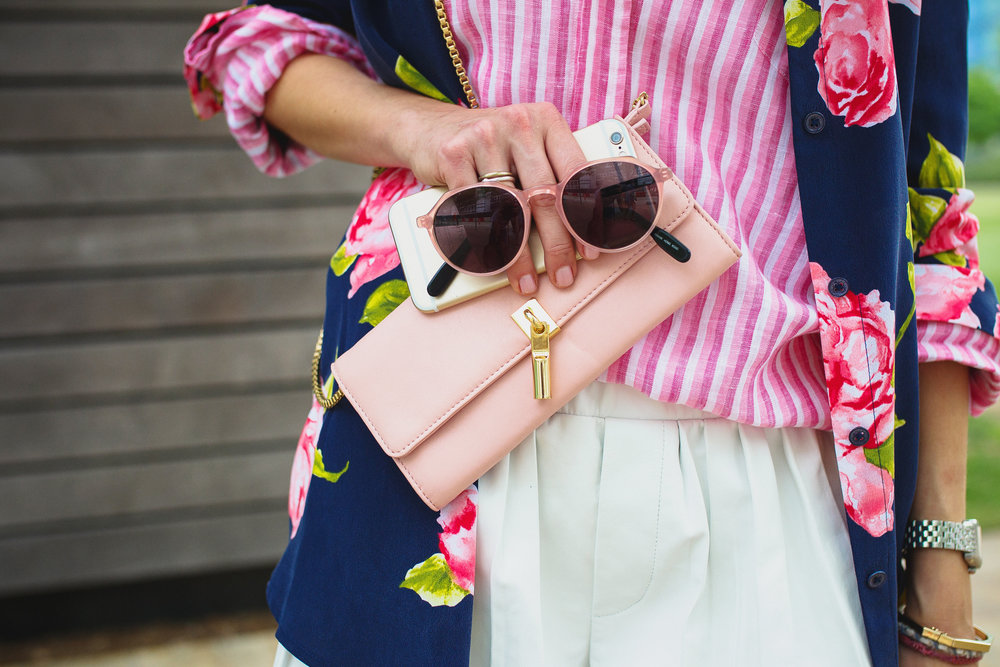 Think pink accessories like this Elizabeth & James wallet