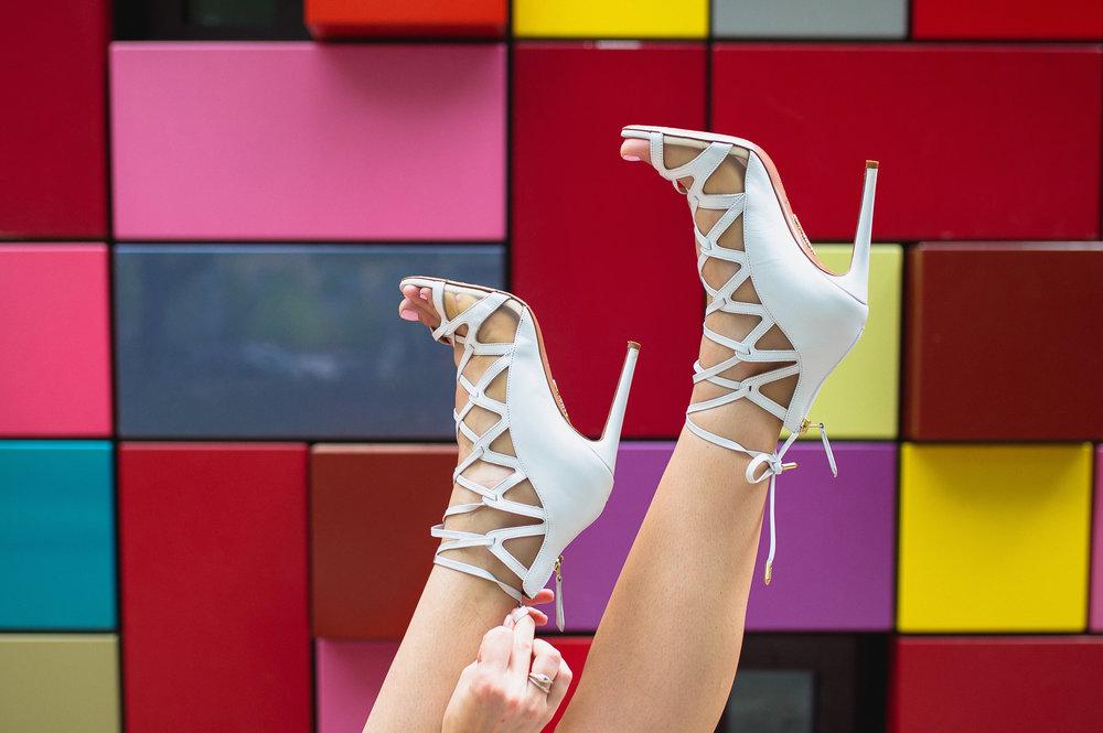 Aquazzura french lover white sandal