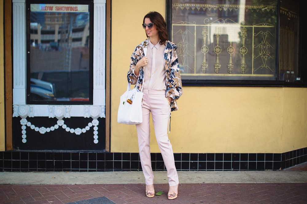 Rag & Bone hooded floral jacket outfit