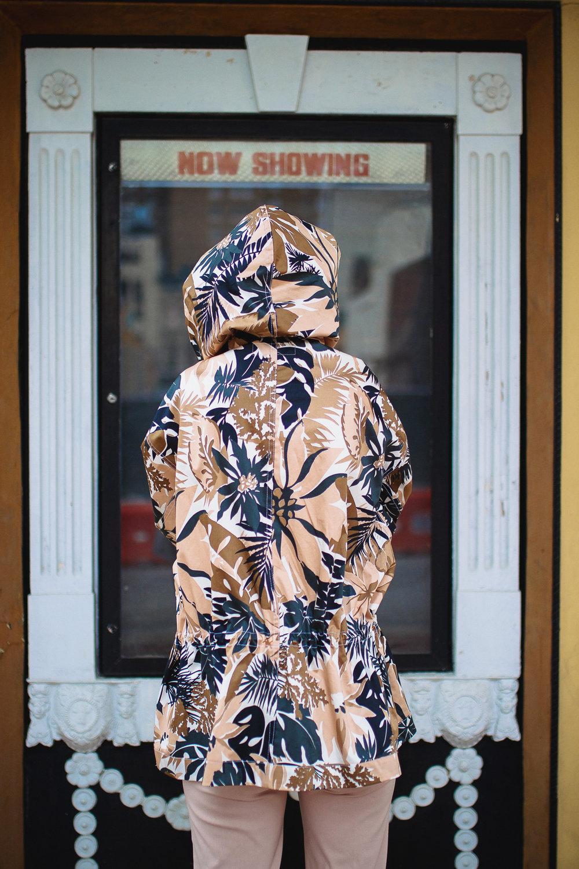 Rag & Bone hooded floral jacket