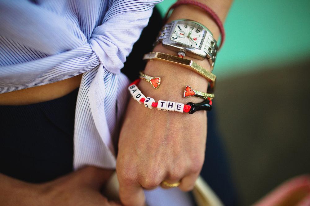 Kendra Scott and Vennessa Arizaga bracelets
