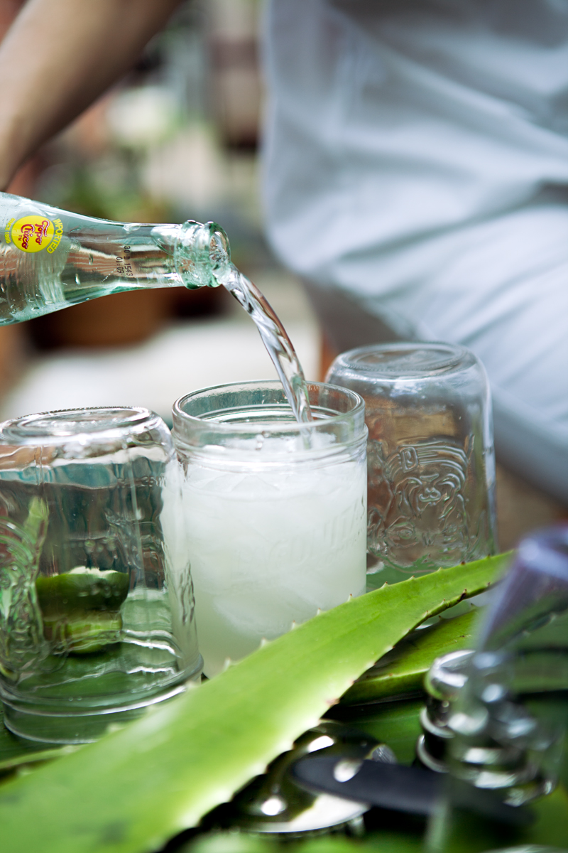 Add Topo Chico: making Margaritas