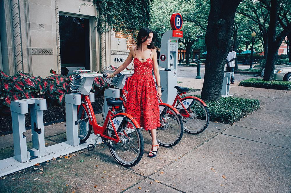 Self-Portrait red lace slip dress
