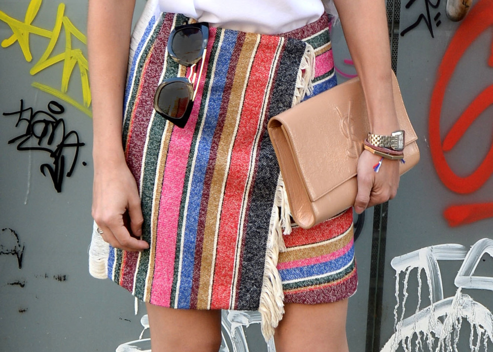 Sandro Josy striped skirt