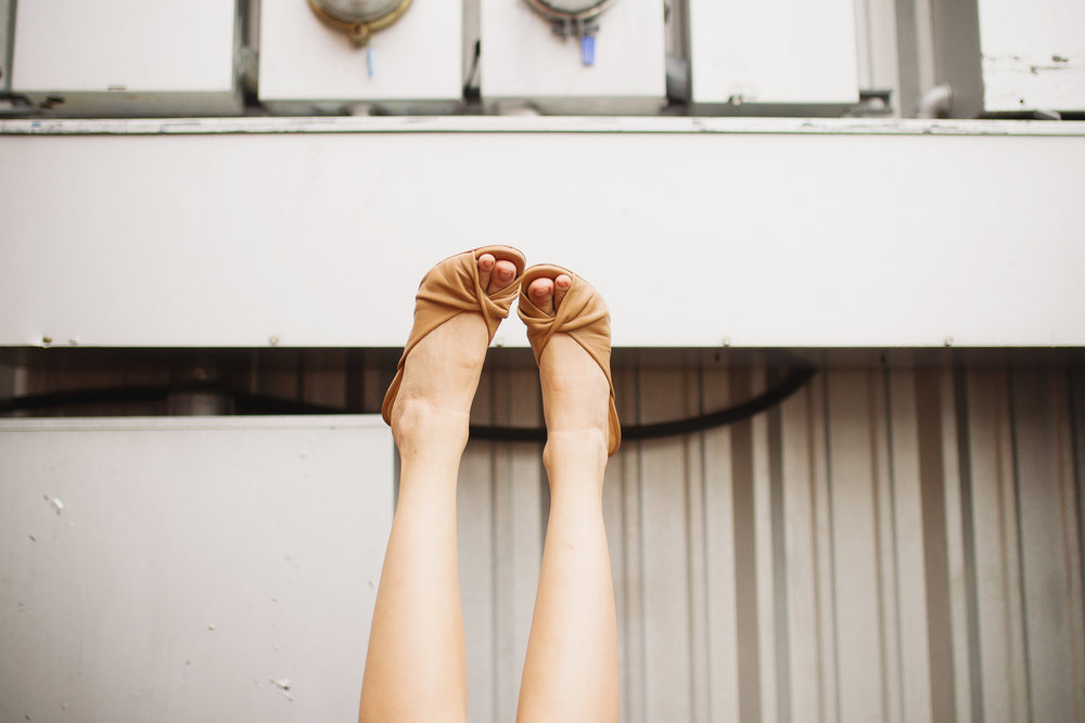 Twist nude mules from Top Shop