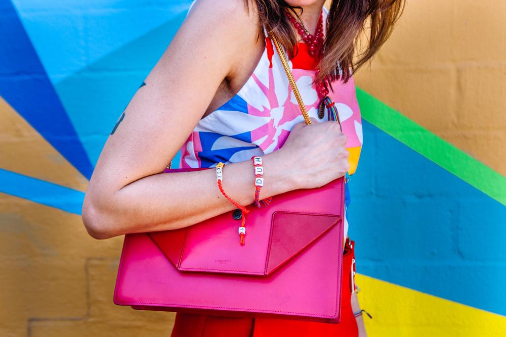 Saint Laurent Betty box hand bag and Venessa Arizaga bracelets on The Shoe Diet