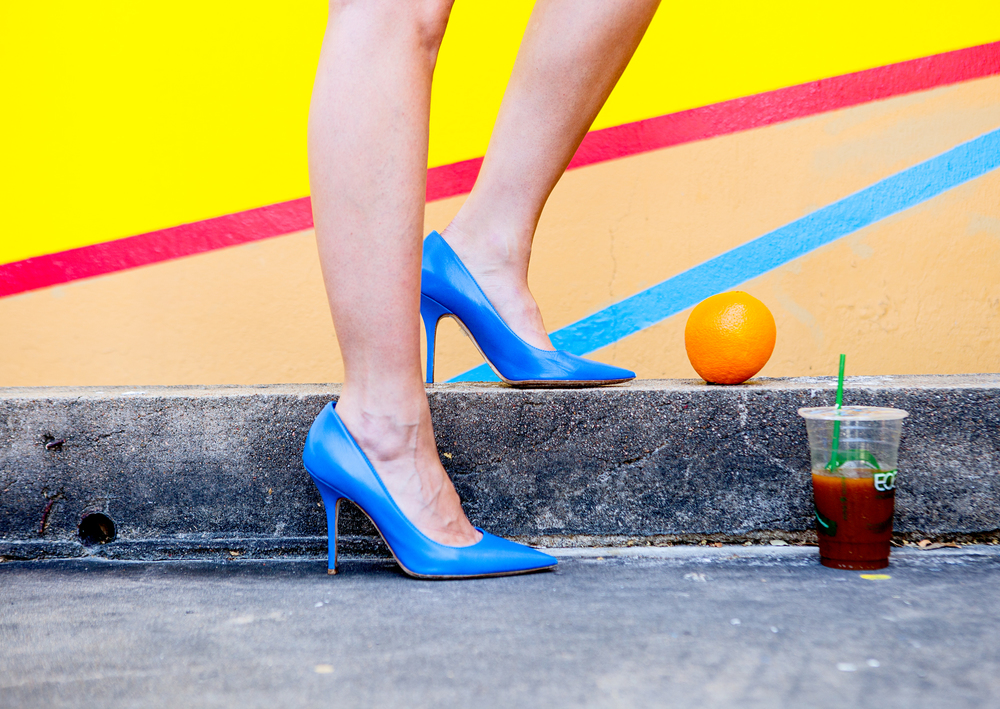 Dior blue pumps, pre fall on The Shoe Diet