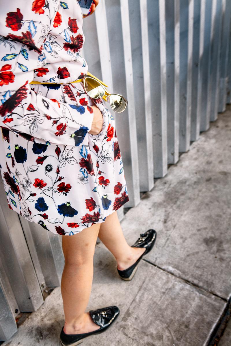 A.L.C. floral dress on The Shoe Diet