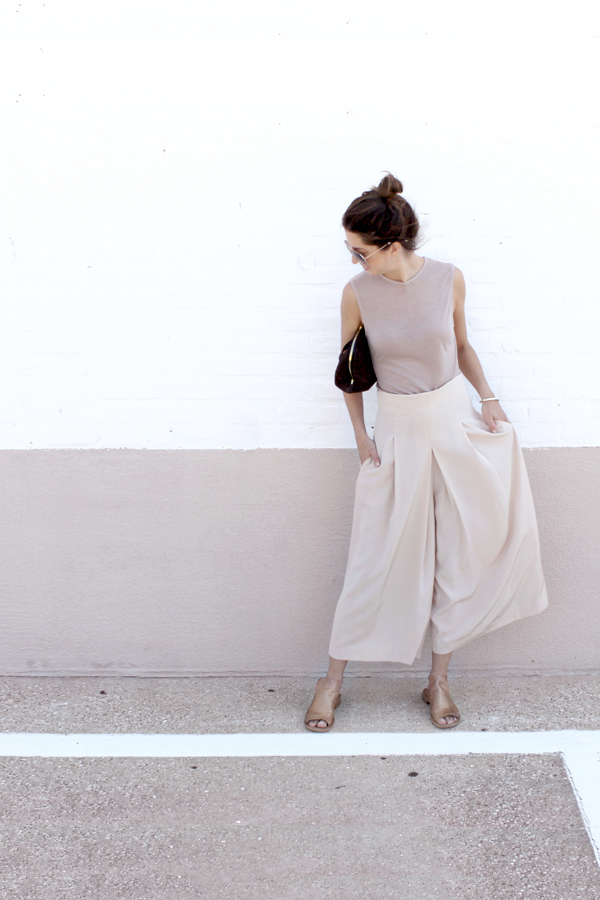 Tamar Mendelssohn The Shoe Diet blush culottes