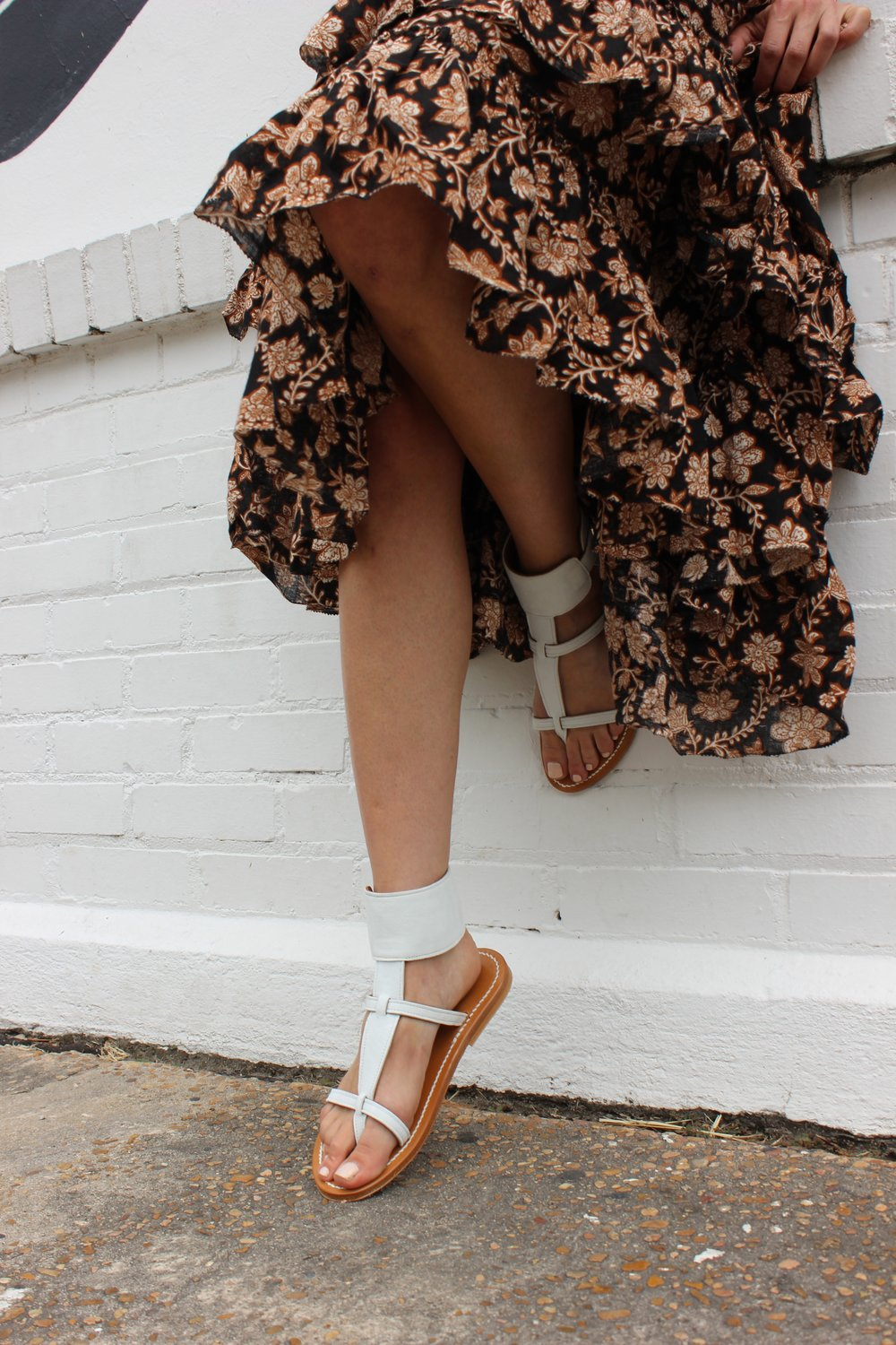 The Shoe Diet Tamar Mendelssohn Zimmermann Ruffle Dress Kjacque Sandal