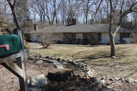 An application for a permit to demolish the house at Westport's 6 Burr Farms Road, off Long Lots Road, is in process. Built in 1952, the one-story ranch has 1,870 square feet, is situated on a 1.13-acre property and, according to Town Assessor records, last changed hands in 1994 for $308,000. Because the house was built more than 50 years ago, the application will be reviewed by the Westport Historic District Commission. (CLICK TO ENLARGE)  Dave Matlow for WestportNow.com