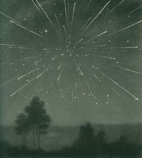 pearl-nautilus :      The radiant meteor storm of 9 October 1933, Larousse Encyclopedia of Astronomy