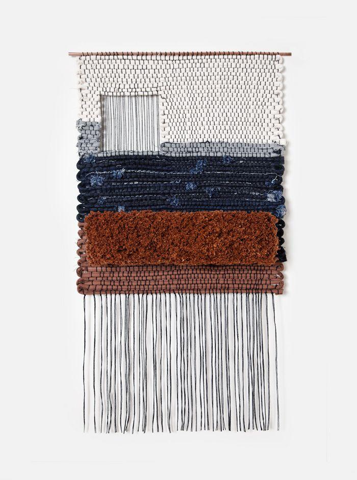 neuboheme :     Brook & Lyn (via  Hand woven by Mimi Jung of Brook & Lyn. Part of a …   textilezzz… )