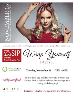 Lamania is excited to announce their upcoming part in a pre-holiday event 'Wrap Yourself in Style'. Be sure to enjoy a night of fabulous fashion and treats at the SIP WINE BAR. you won't want to miss Lamania's holiday style.        November 18th - SIP WINE BAR