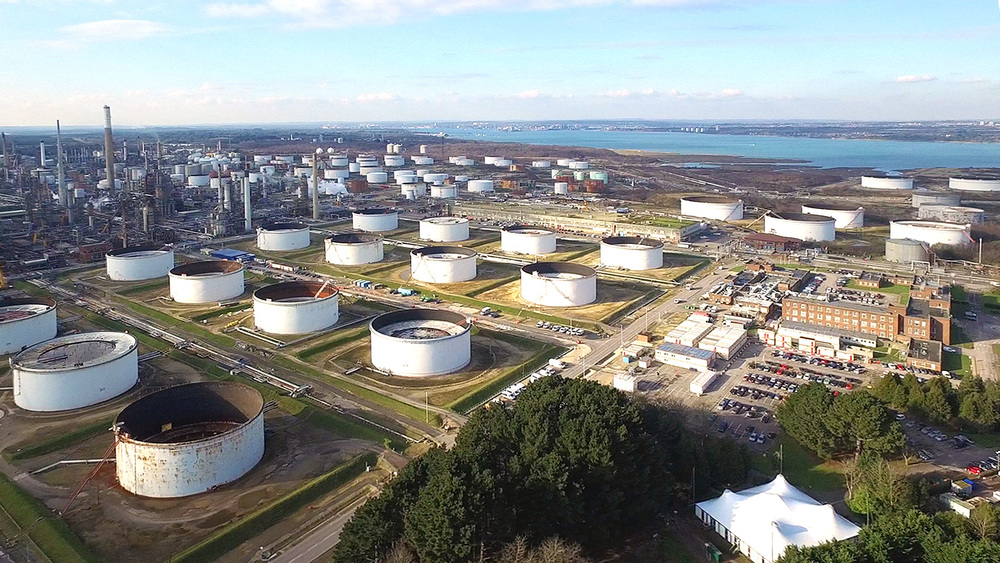 Fawley Refinery By Drone
