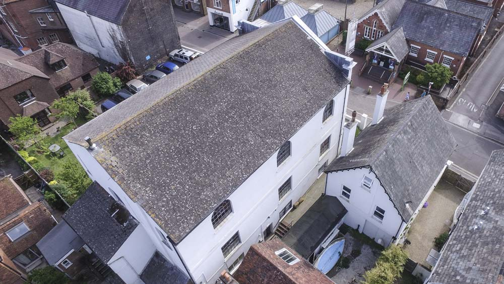 Drone UAV Roof Inspection & Drone Aerial roof inspection survey for Lymington Baptist Church ... memphite.com