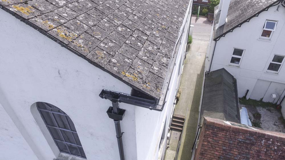 drone church roof inspection using uav