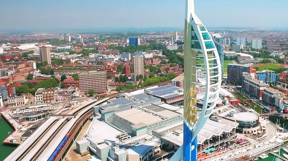 Emirates Spinnaker Tower Portsmouth Harbour Drone My
