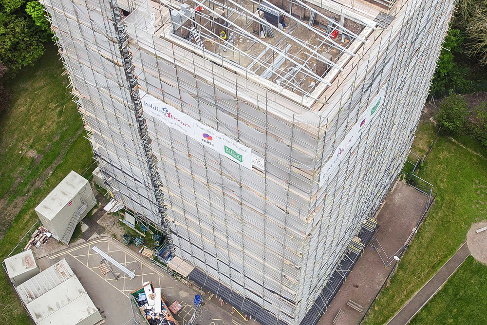 Hise-Rise Tower Block Drone Building Survey