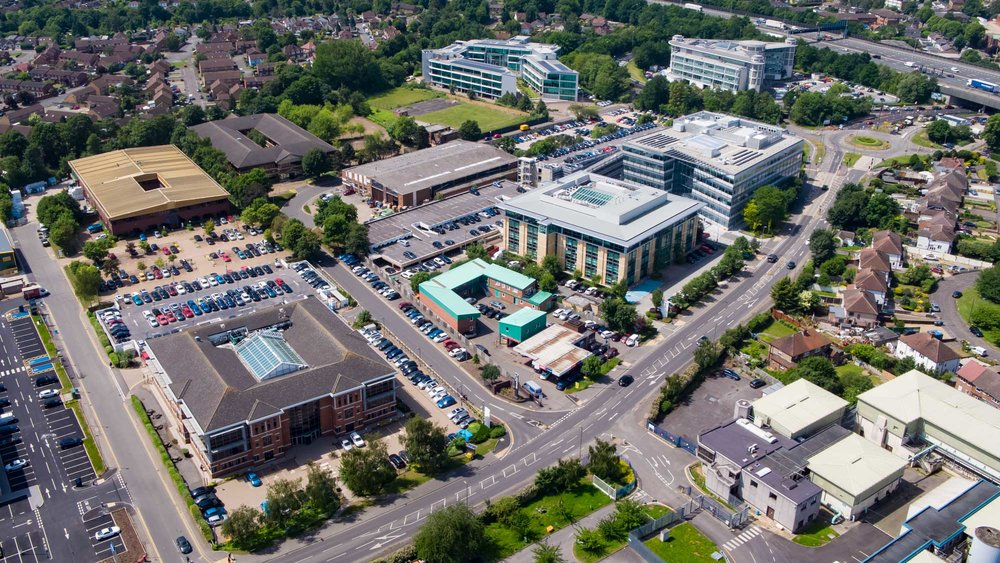 Drone Photography Business Park London Staines.jpg